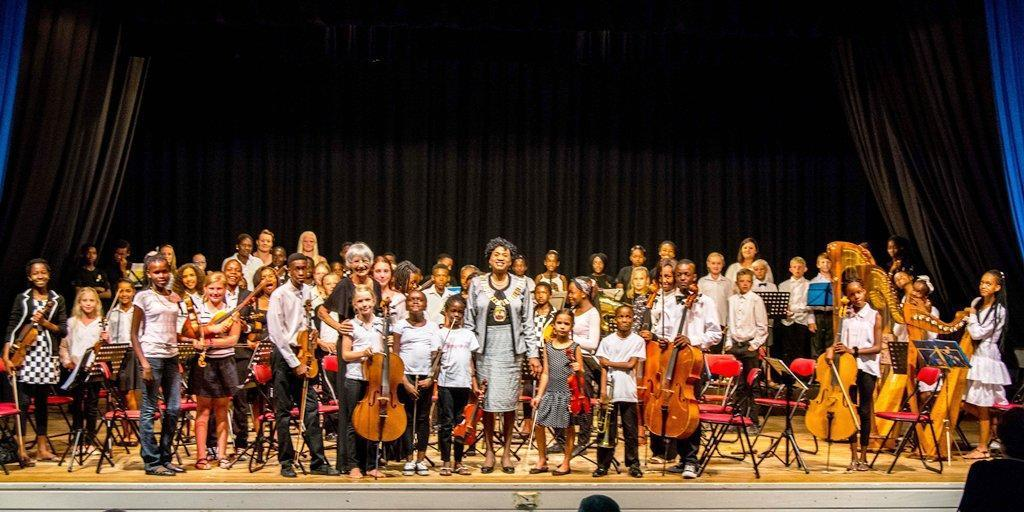 Honourable Mayor Paulina Ndahafa Nashilundo visiting the Junior Concert